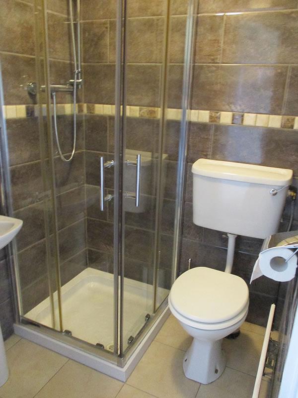 Bathroom/Shower at Whitaker Lodge B&B